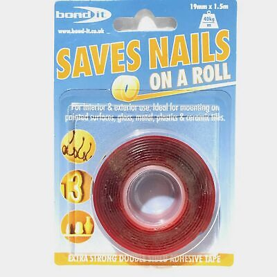 Extra Strong Double Sided Adhesive Sticky Tape  Saves Nails On A Roll, Not Hooks