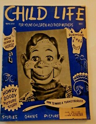 Vintage Child Life Magazine 1950 Featruring Howdy Doody