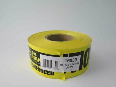 """500'x3"""" Yellow Tape Reinforced CAUTION"""