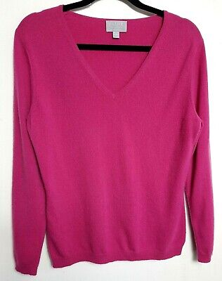 Pure Collection 100% Cashmere Womens Jumper Sweater Uk14 Pink