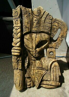 Ancient Pre-Columbian Tula Hidalgo Mexico SILEX Carved Alien Priest Statue 13kg