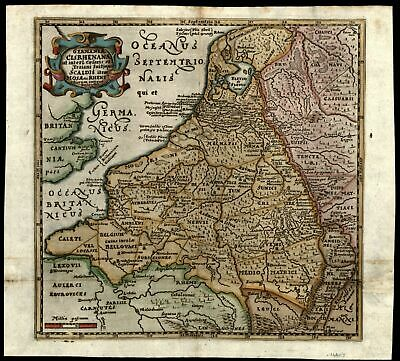 Low Countries Netherlands Holland ancient Germany c.1660 Mosting antique map