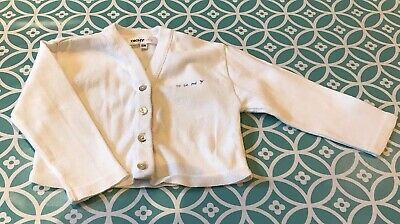 Baby Girls DKNY White cardigan - Age 18 Months