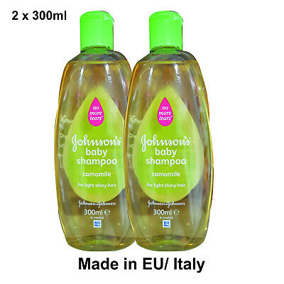 Johnson's Baby Shampoo No More Tears with Chamomile, 2 x 300ml