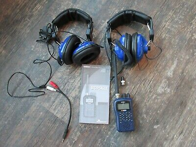Uniden BC95XLT Scanner Pair Racing TP-60 Headphones Police Fire Weather