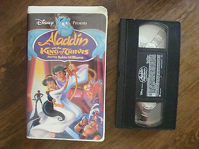 Aladdin and the King of Thieves (VHS, 1996) Walt Disney Movie with Robin William