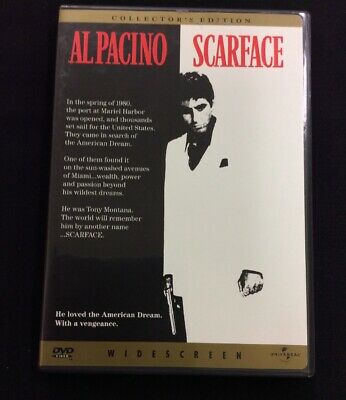 Scarface Collectors Edition Widescreen Single Disc Al Pacino DVD Free Shipping