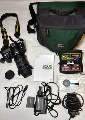 Nikon D300 12.3MP DSLR Camera - Black (Full Kit w/ 18-200mm Lens) + ACCESSORIES