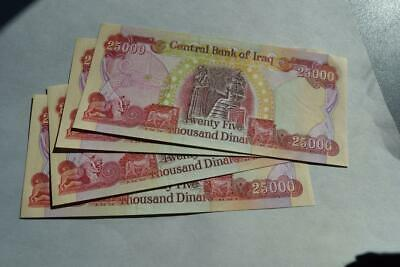 100000 (4 x 25000) NEW IRAQI DINARS WITH SECURITY FEATURES IQD-UNCirculated