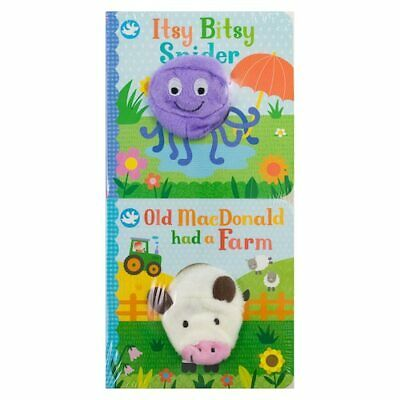 Itsy Bitsy Spider/Old MacDonald set of 2 finger puppet books ages 2-4 years