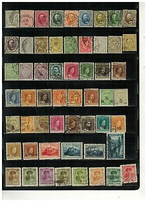 Lot of Luxembourg Old Stamps Used/MLH