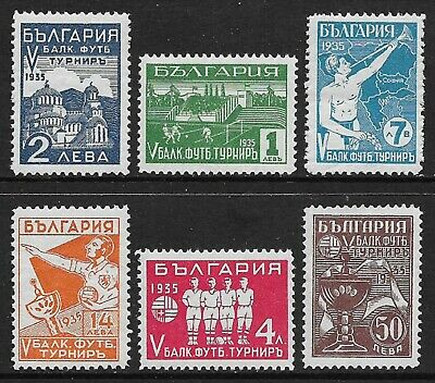 BULGARIA 1935 Football Tournament Set of 6 SG 351-356 MH/* (Cat £500)