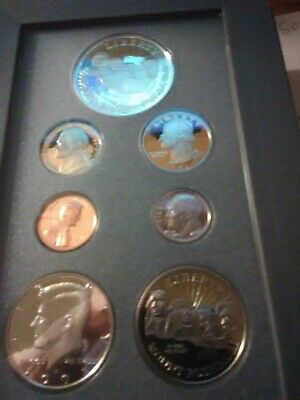 1991 US Mint Mt Rushmore Prestige Proof Coin Set, COA