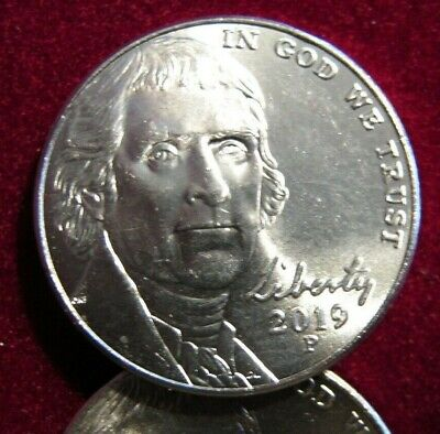 2019-P BU JEFFERSON NICKEL FROM BANK ROLLS only 5 available as single sales