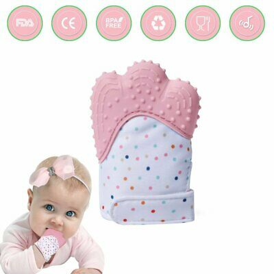 Teething Mitten Mitt Glove Silicone Baby Teether Toy for Girls Chews Soother Age