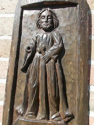 Wooden Saint Francis Of Assisi Hand Carved Statue 100000 Picclick