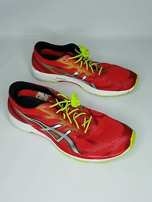 Asics Gel DS Racer 10 SIZE 8US Mens Running Shoes Red