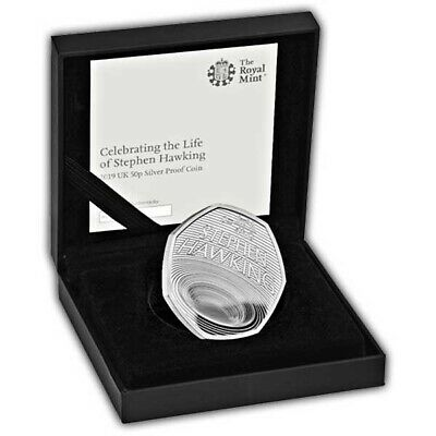 Stephen Hawking 2019 UK 50pSilver Proof Coin ~ SOLD OUT ~ LIMITED EDITION 5,500