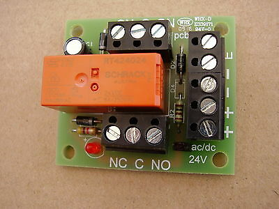 5 x 24v ac/dc Handy little Relay board ideal for security and fire alarm Systems