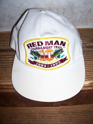 c55bb62635c Vintage RED MAN CHEWING TOBACCO HAT 10th ANNIVERSARY TOURNAMENT TRAIL  1983-1993