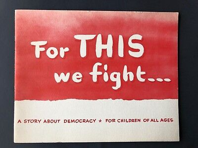 For This We Fight VINTAGE Political Pamphlet Voting Rights Election Cartoons