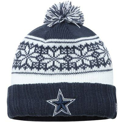 abccdb8b8c3 Dallas Cowboys Nfl New Era Womens Blue Snowy Pom Cuffed Beanie Sport Knit  Hat