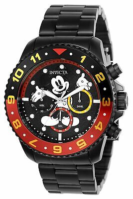 Invicta Disney Limited Edition Men's Chronograph Watch Black Stainless 24957