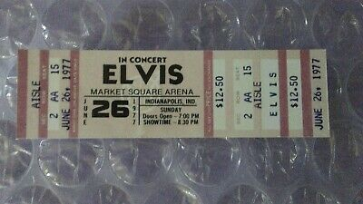 Elvis Presley Last Concert Ticket June 26th 1977 Indianapolis Indiana