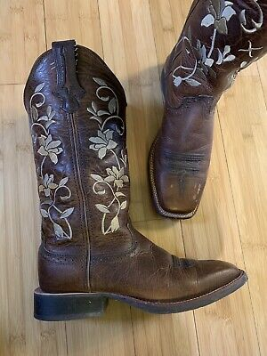 0ffbe1dca03 TWISTED X WOMEN'S Floral Ruff Stock Cowgirl Boot - Square Toe ...