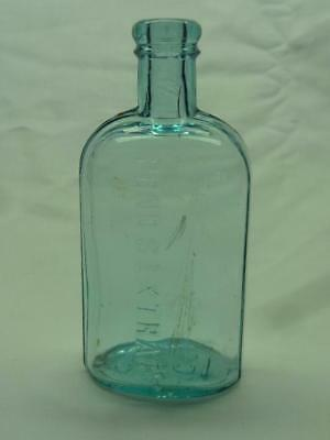 Antique 1846 Ponds Extract Blue Glass Medicine Bottle. 3359