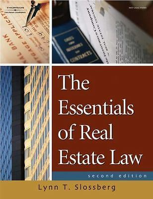 The Essentials of Real Estate Law for Paralegals by Lynn T. Slossberg (2007,...