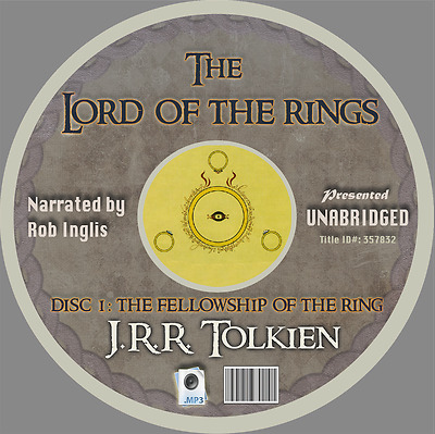 The Lord of the Rings Audiobook MP3 CDs -Complete Unabridged Recordings- 4 Discs