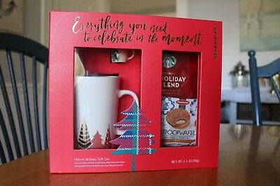 2017 Starbucks Warm Wishes Gift Set W/Ornament Macys Exclusive