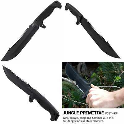 "SOG Survival Machete W Sheath Jungle Primitive LARGE Tactical W/ 9.5"" Full Tang"