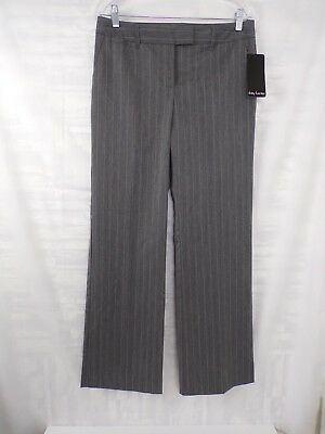 NWT Daisy Fuentes gray pin stripe dress pants size10 INDUSTRY PAN MSRP $44 #DI-8