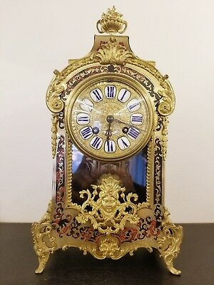 French Boulle Clock 1870 Circa
