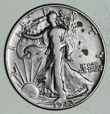 Strong Feather Details - 1942 Walking Liberty Half Dollars - Huge Value *558