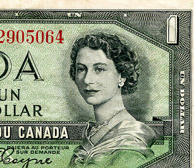 Canada  $1 1954  Nice  Devil's Face Note