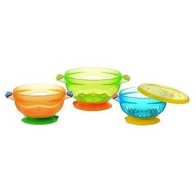 Munchkin Stay Put Suction Bowl - Set of 3 NEW SEAL (H7)