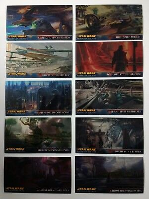Star Wars Revenge of the Sith Widevision Retail Chrome set of 10 cards R1 - R10
