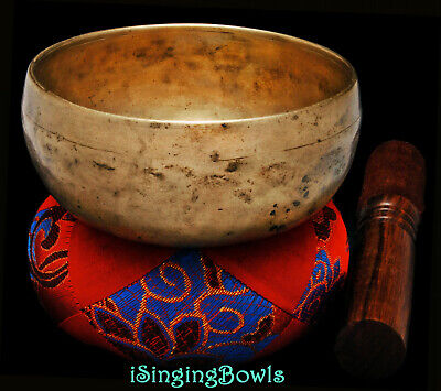 """Beautiful Hand-forged Singing Bowl Cup 4 3/4"""", circa 18th Century, C5 & F#6. Mp3"""