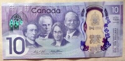 Canada 10 Dollars  Commemorative  Note From 2017, Polymer Plastic