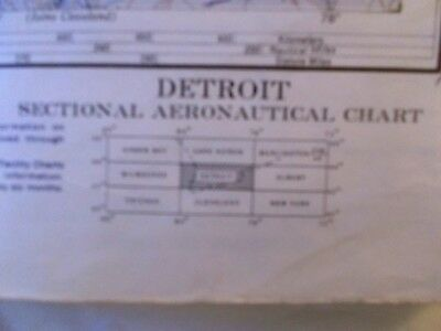 Detroit Sectional Aeronautical Chart May 1957 Vintage