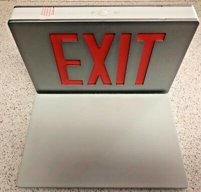 Case of 6 Philips McPhilben Red LED Emergency Exit Signs Aluminum 55L3WBR