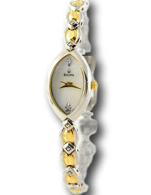 Bulova Women's Diamond Collection Two Tone Gold Stainless Watch 98P001