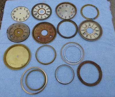 Dials Box Lot Parlor Shelf Mantle Gilbert Seth Ansonia Shelf Mantle Wall Clocks