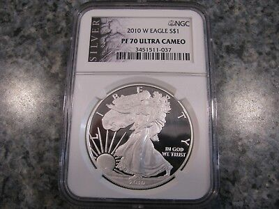 2010 W EAGLE S $1 PF70 ULTRA CAMEO LIBERTY LABEL 1oz. NGC GRADED AMERICAN SILVER