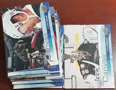 2016-17 UD Upper Deck Canvas Lot of 36 Series 1+2 All different KANE EICHEL HALL