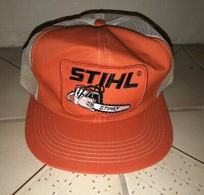 8ccc39e6 Vintage STIHL CHAINSAW Mesh Snapback Trucker Hat Cap K Products Made In USA  EUC
