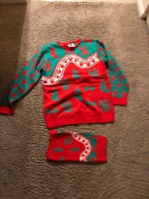 Matching Ugly Christmas Sweaters For Dog And Owner.New Cesar Dog Small Owner Medium Matching Ugly Christmas Holiday Sweater Set